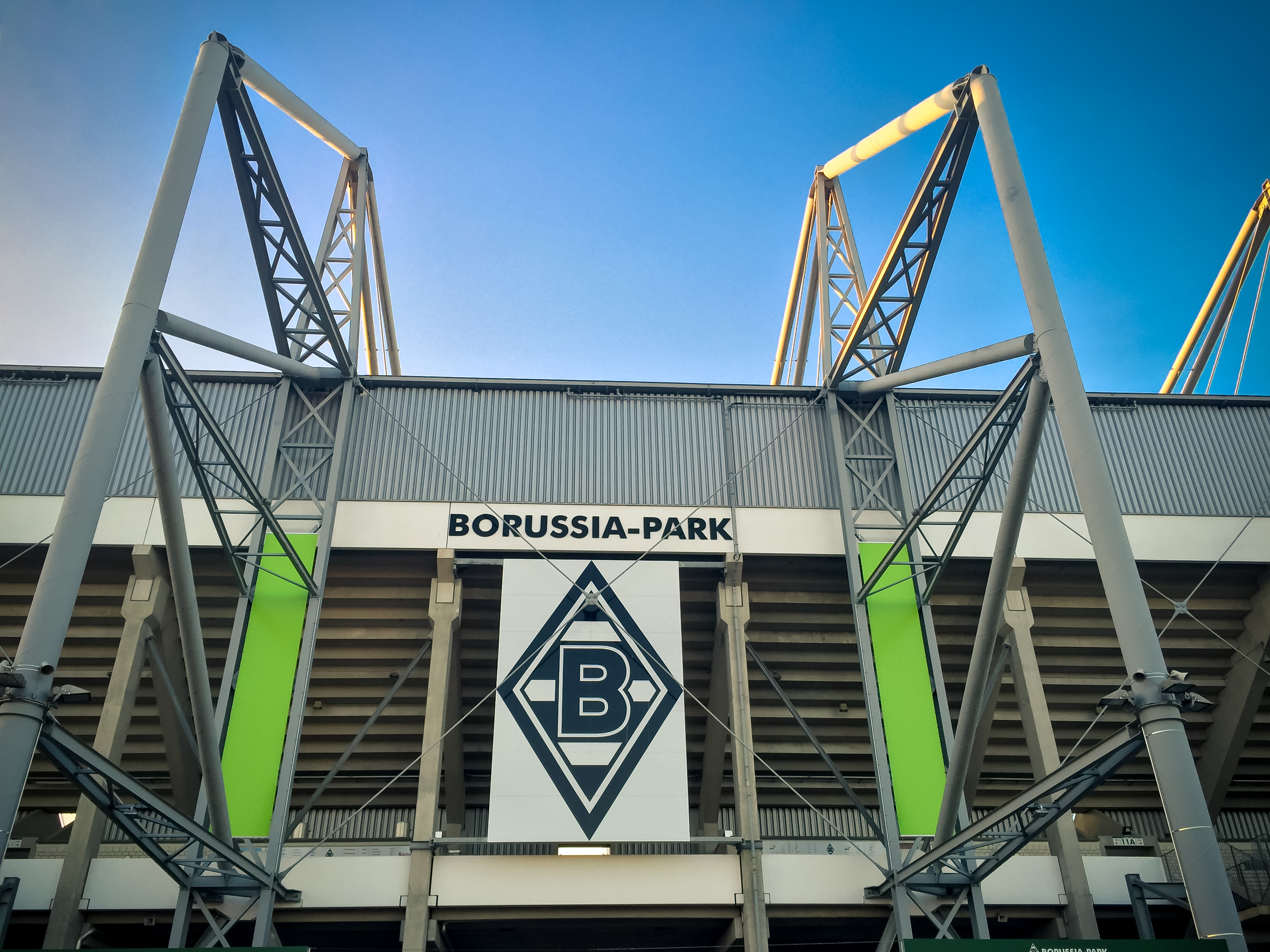 Football stadium Borussia Park in Monchengladbach